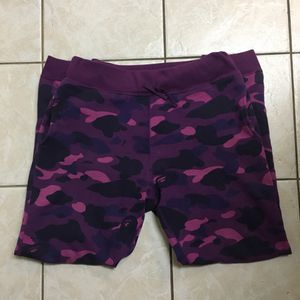 Worn Bape Bathing Ape OG Camo Purple Sweatpants size Medium for Sale in Rowland Heights, CA