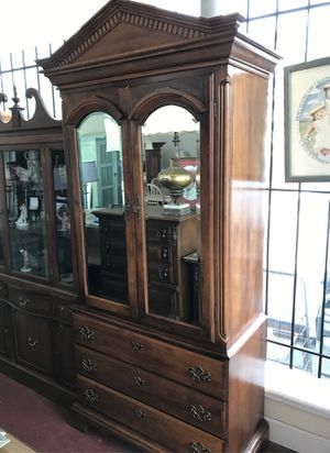 Real nice solid wood six drawer clothes armoire for Sale in Jacksonville, FL