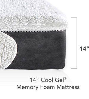 New in box 14 inch cool gel memory foam mattress king size $300, cal king $285, bonus 2 gel pillows for Sale in Columbus, OH