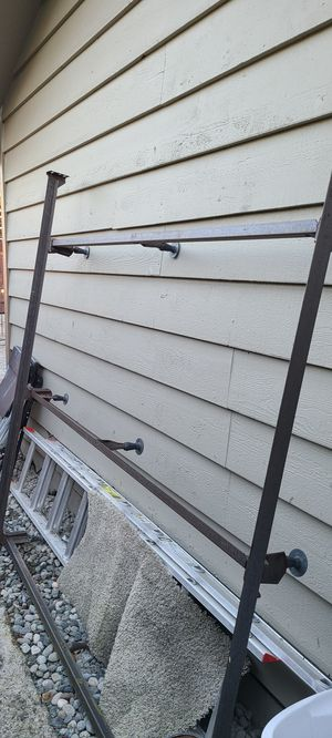 Free Metal Bedframe King Size with 2 Box Springs for Sale in Bellevue, WA