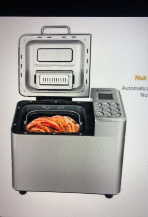 New 2 Lb Stainless Steel Automatic Bread Maker Programmable Bread Machine