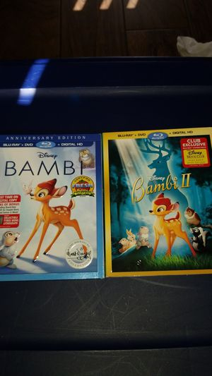 New Bambi and bambi 2 blu-ray movies for Sale in Lemon Grove, CA