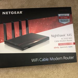 NETGEAR - Nighthawk Dual-Band AC3200 Router with Cable Modem C7800-200NAS NEW for Sale in Gaithersburg, MD