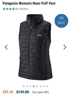 Patagonia women's Nano puff vest Medium for Sale in Hartford,  CT