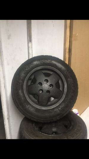 """15"""" used wheels 5-114 or 5x4.5 Plus AT TIRES 205-70R15 for Sale in San Diego, CA"""
