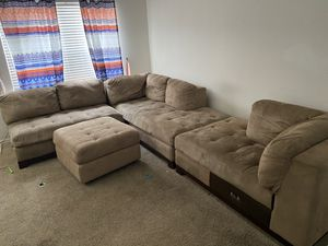 Microfiber sectional couch for Sale in Tampa, FL