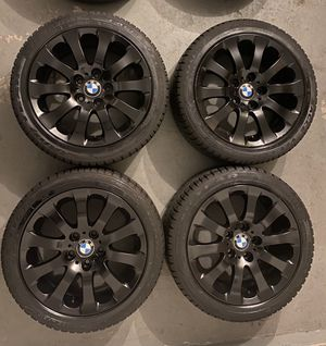 BMW WHEELS OEM GLOSS BLACK STYLE 159 17x8 BOLT PATTERN 5x120 for Sale in Fort Washington, MD