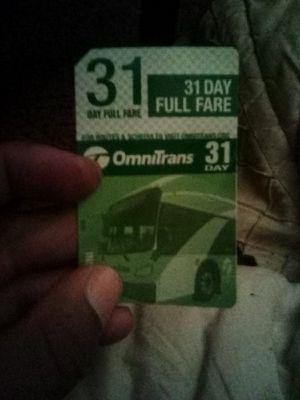 Omnitrans 31 day pass for Sale in San Bernardino, CA