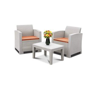 New 3 Piece Outdoor Wicker Rattan Set, Grey, Tool Free Assembly. for Sale in Mission Viejo, CA