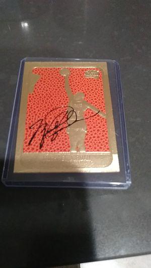 Michael Jordan gold autographed card for Sale in Montebello, CA