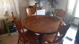 Antique, oak, table and chairs for Sale in Cottontown, TN