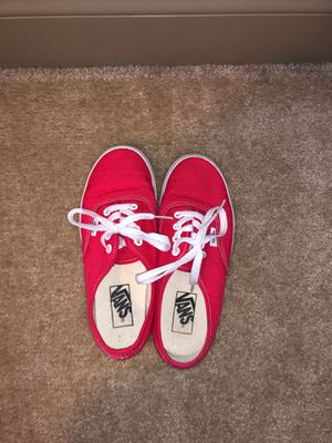 Red Vans w6 m4.5 for Sale in Wilmington, NC