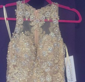 Cinderella Gold Dress Quinceanera Fancy Dress Evening Gown for Sale in Los Angeles, CA