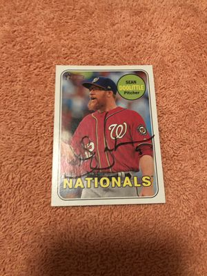 Sean Doolittle Autographed TOPPS 2019 Heritage Baseball Card, Item comes with Certicate of Authenticity! for Sale in Fairfax, VA