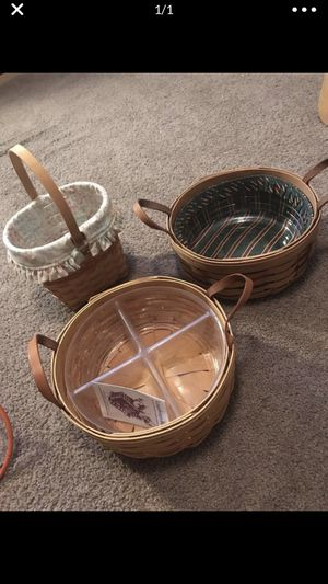 Longaberger Baskets... LOWERED! All for $60 for Sale in Goshen, OH