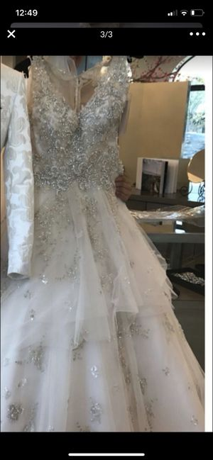 Beautiful beaded swavorski crystals all over wedding dress for Sale in Miami Gardens, FL