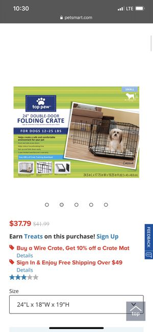 """Top paw dog crate 24"""" for Sale in St. Petersburg, FL"""