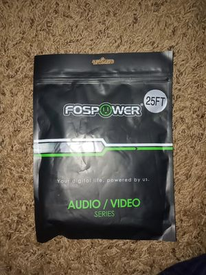 FosPower Audio/ Aux Cable (25 FT), Stereo Audio 3.5mm Auxiliary Cord for Sale in East Point, GA