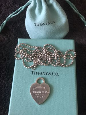 Tiffany and Co Dog tag necklace for Sale in Sacramento, CA