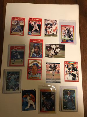 14 card lot Bo Jackson baseball & football for Sale in Fresno, CA