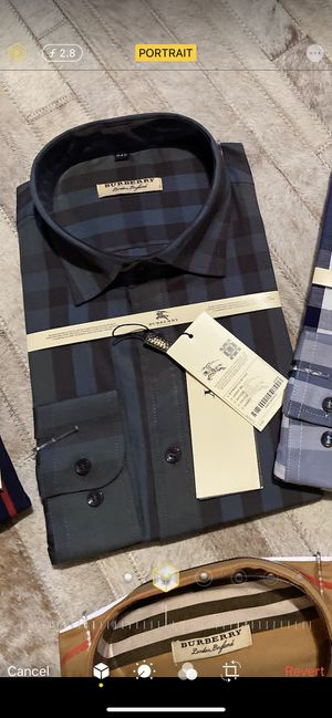 New men's Burberry plaid dress shirt XL for Sale in Bakersfield, CA