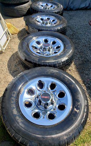 Chevy Silverado/Tahoe/Suburban/GMC rims and tires ...265/70/17 for Sale in San Bernardino, CA