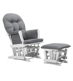 NEW Glider Rocking Chair and Ottoman Set Grey Ultra Soft for Baby's Room Nursery for Sale in Miami, FL