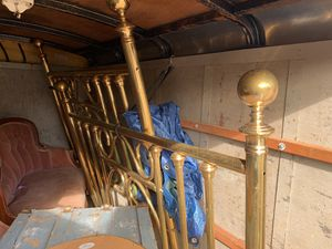 Victorian Style Brass bed frame queen for Sale in Montesano, WA