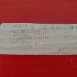 "Rare new in box polk audio MOMO's! 6x9 and 6.5"" components for Sale in Stockton, CA"
