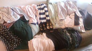 Clothing bundle plus heels for Sale in Fresno, CA