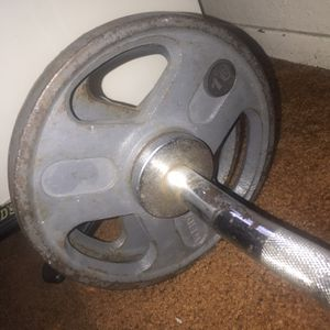 Work Out, Z Curl Bar With Weights for Sale in Laguna Niguel, CA