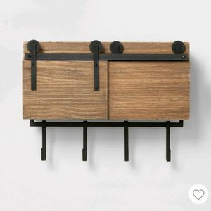 Entryway Barndoor cabinet with hooks for Sale in Palm Bay, FL