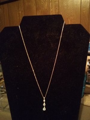 Sterling silver 3 Stone pendant necklace for Sale in Northumberland, PA