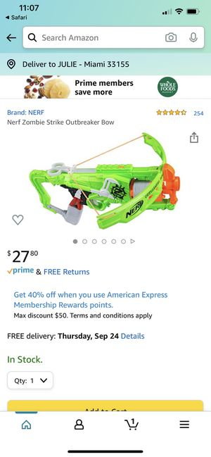 NERF Zombie Strike Crossbow Toy Gun Pistola for Sale in Miami, FL