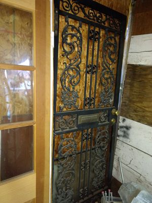 "***32"" Black iron exterior door *** MUST PICK UP ASAP!!!! for Sale in Philadelphia, PA"