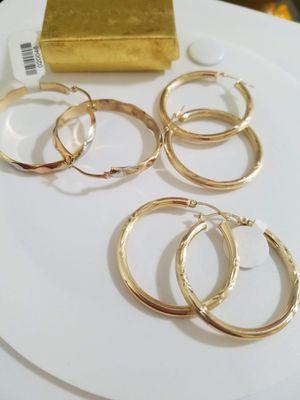 Bellas Argollas para mujer oro 14k for Sale in Manassas Park, VA