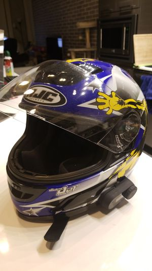 HJC motorcycle helmet size M with bluetooth headset for Sale in Arlington, VA