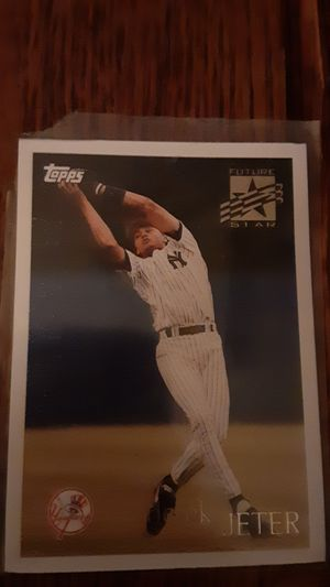 Derek Jeter 1996 Topps Baseball Future Star Rookie Card 219 Yankees for Sale in Greenville, SC