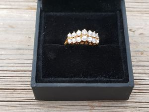 Gold plated over sterling silver 925 CZ ring size 7 for Sale in Scottsdale, AZ