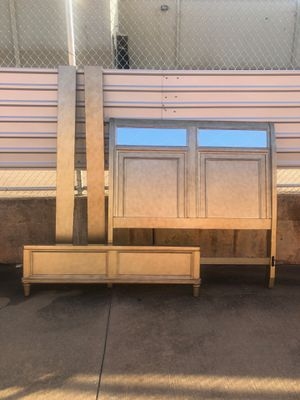 Beautiful Mirrored Queen Bed Frame and Dresser for Sale in Oklahoma City, OK