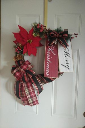 Merry Christmas Grapevine wreath for Sale in Rhinelander, WI