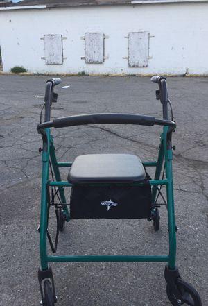 Medline Medical Four Wheel Walker Rollator with Fold Up Removable Back Support for Sale in Grosse Pointe Park, MI
