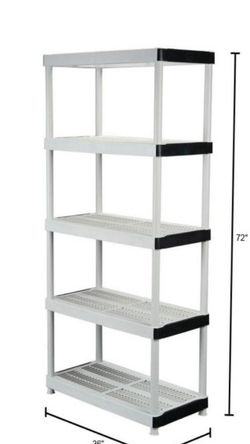 2 Pair Tier Plastic Garage Storage Shelving Unit for Sale in Queens,  NY