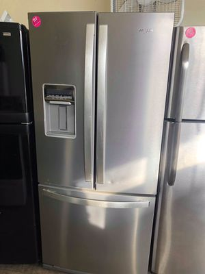 Whirlpool stainless steel French door fridge for Sale in Parma, OH