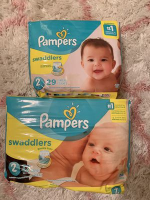 Pampers size 2 Diapers 2 packs for Sale in Yorktown, VA