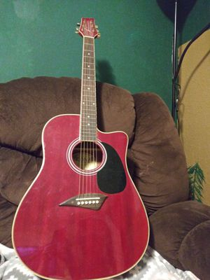 KONA red acoustic guitar for Sale in TEMPLE TERR, FL