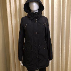 MICHAEL Kors Hooded Raincoat, Black XS for Sale in San Mateo, CA