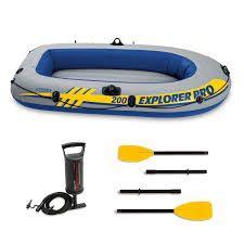 Intex Inflatable Pro Explorer 200 two min boat for Sale in Vero Beach, FL