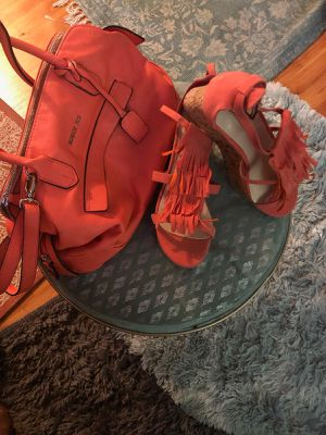 Fringed Heel Shoes w/ matching purse for Sale in Plantation, FL