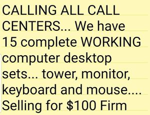 CALL Center Computer sets for sale for Sale in West Covina, CA